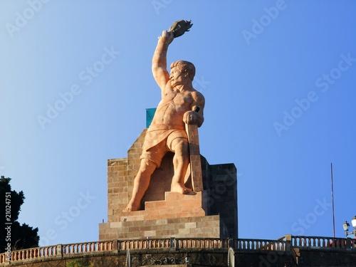Leinwanddruck Bild Statue Guanajuato