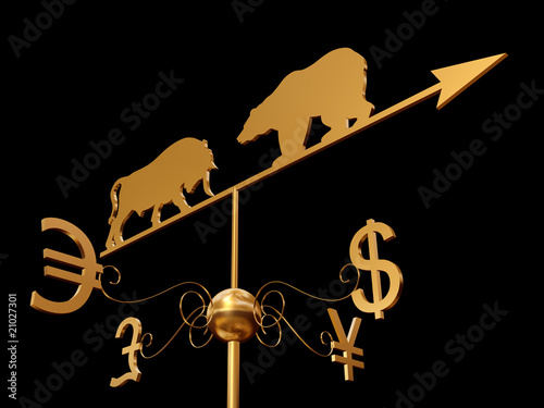 Financial weather vane 3D
