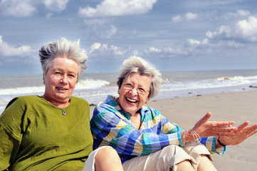 Two Senior Women at the Beach II