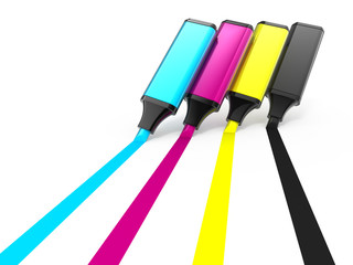 cmyk highlighters
