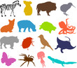 Set of animals icons  - silhouettes 05
