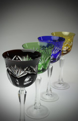 Handcrafted wine glasses