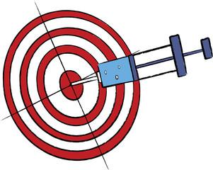 syringe in target