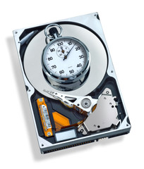 HDD with stopwatch