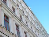 Sanierte Altbaufassaden