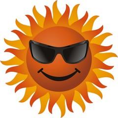 vector smiling sun