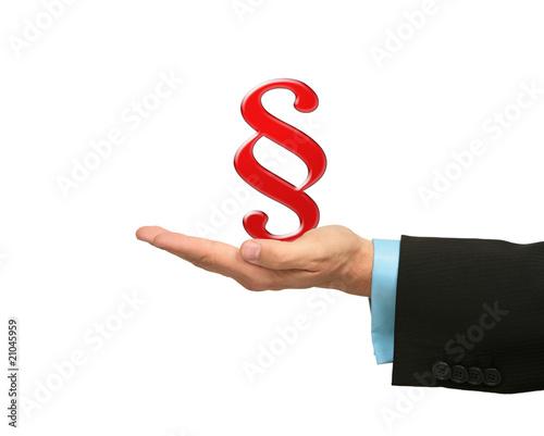Business Hand mit Paragraf