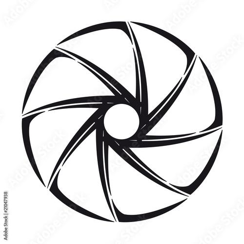 The stylized shutter of camera - 21047938