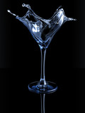 Splashing martini glass