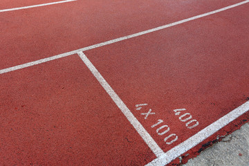 start point on running track