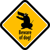 Beware of dog sign, vector illustration poster