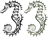 Tattoo Seahorse poster