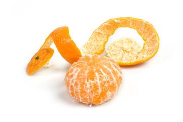 Mandarino buccia spiralica