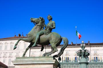 Statua equestre in bronzo -  Palazzo reale- Torino