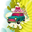 roleta: Designed hippie artistic banner. Vector illustration.