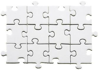 pièces blanches puzzle fond blanc