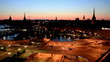 Evening Stockholm, high angle view.