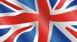 Waving vector british flag