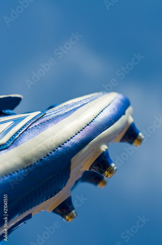 Blue football boot