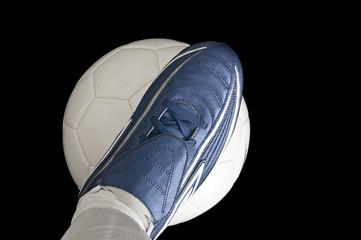 Footballer with football