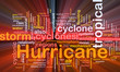 Hurrican weather background concept glowing
