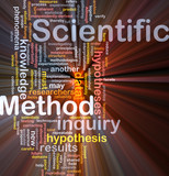 Scientific method background concept glowing poster