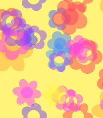 Floral pattern background wallpaper