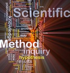 Scientific method background concept glowing