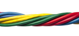 Colorful twisted ethernet network cables poster