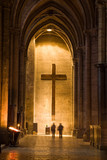 Big Holy Cross in a corridor of Chartres Cathedral, France