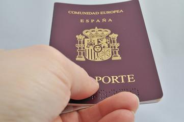 Pasaporte en control