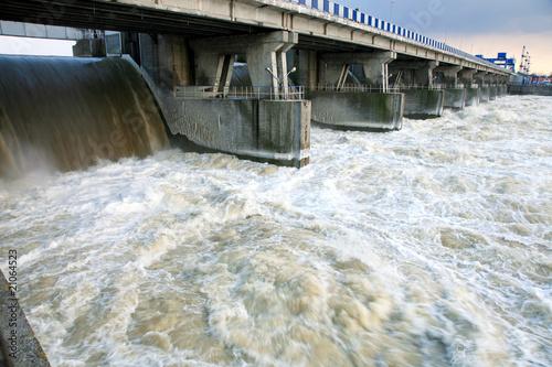 canvas print picture Dam in Wloclawek - Poland