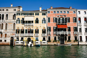 weathered venetian facades