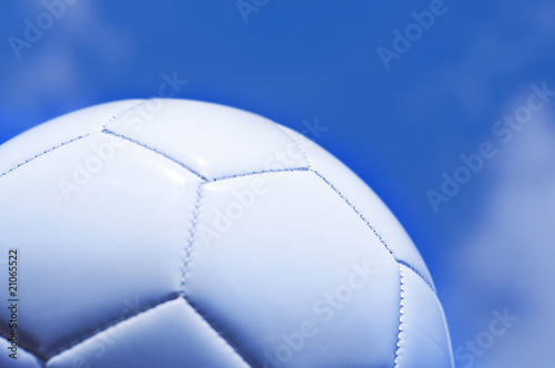 Close up of football