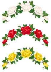 Tralci di rose in 3 colori
