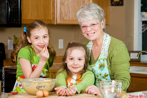 Granma in the kitchen