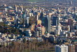 Panoramic view of downtown Santiago, Chile, South America poster