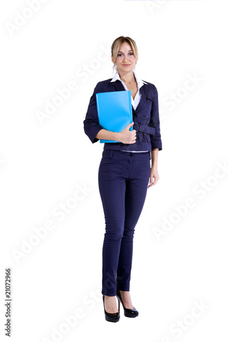 business woman with planner