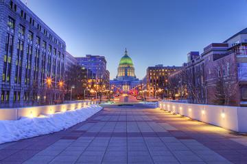 Madison, Wisconsin skyline, HDR