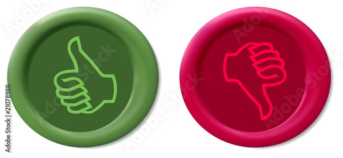 Thumbs Up & Down Vector Wax Seals