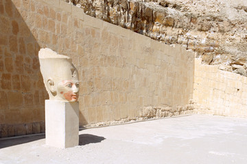 Statue of Queen Hatshepsut - Temple at Luxor .Egypt