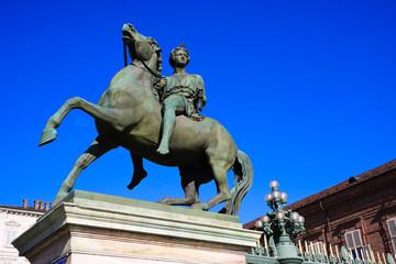 Statua equestre in bronzo -  Palazzo reale - Torino