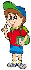 Advising school boy