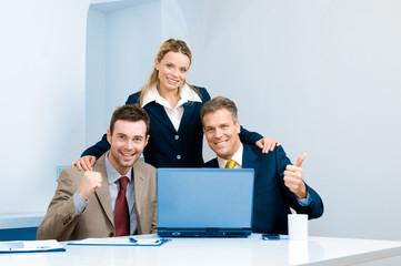 Successful business team celebration