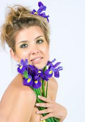 Fresh face with irises