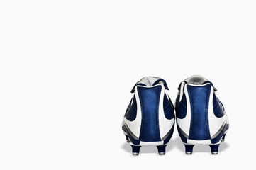 Blue soccer boots