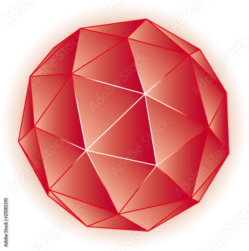 Polyhedron vector geometric illustration 3D