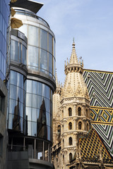 St. Stephen's Cathedral and Haas Haus in Vienna