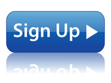 SIGN UP web button (register open account free join subscribe) poster