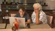 Teen helps Grandmother learn on computer - 104